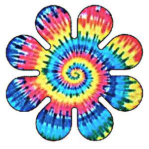 hippy tie dye flower by peacepipea on deviantart