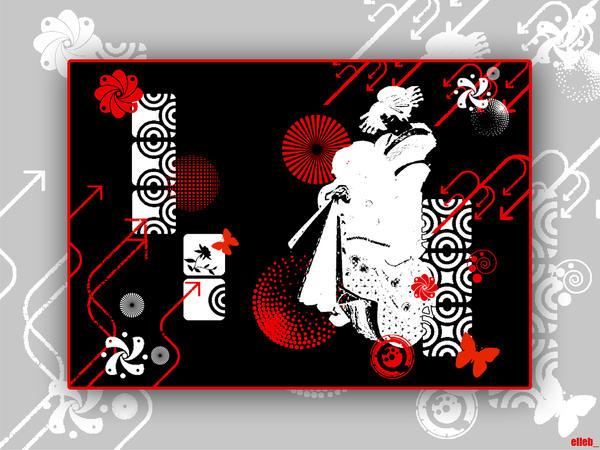 oriental wallpaper. Oriental Vector Wallpaper by