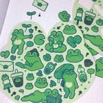 Froggy Boyfriend sticker sheet