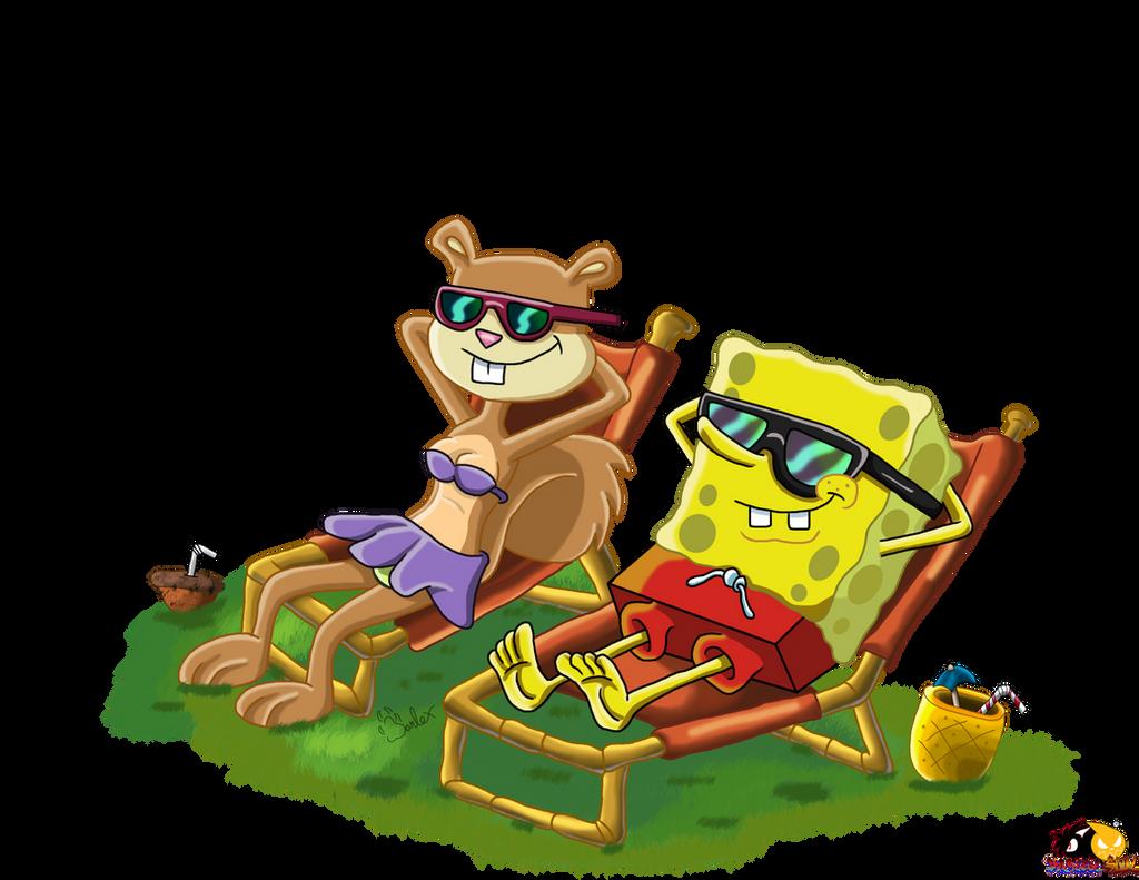 Spongebob Meet Bendy Deviantart: Casual Sandy And SpongeBob On Sandy-Cheeks-Fans
