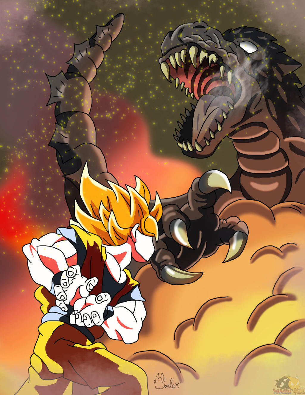 Goku Vs Godzilla by boy-wolf