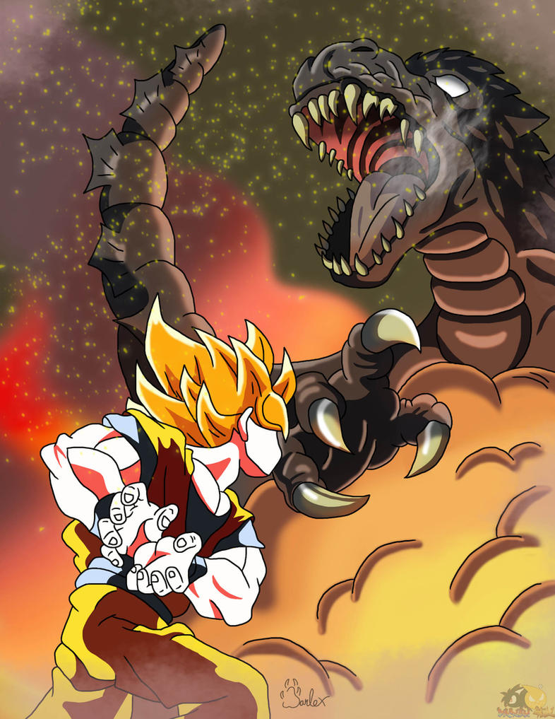 Goku Vs Godzilla by boy-wolf