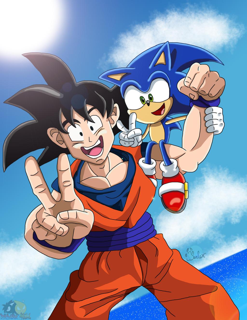 Goku And Sonic by boywolf on DeviantArt