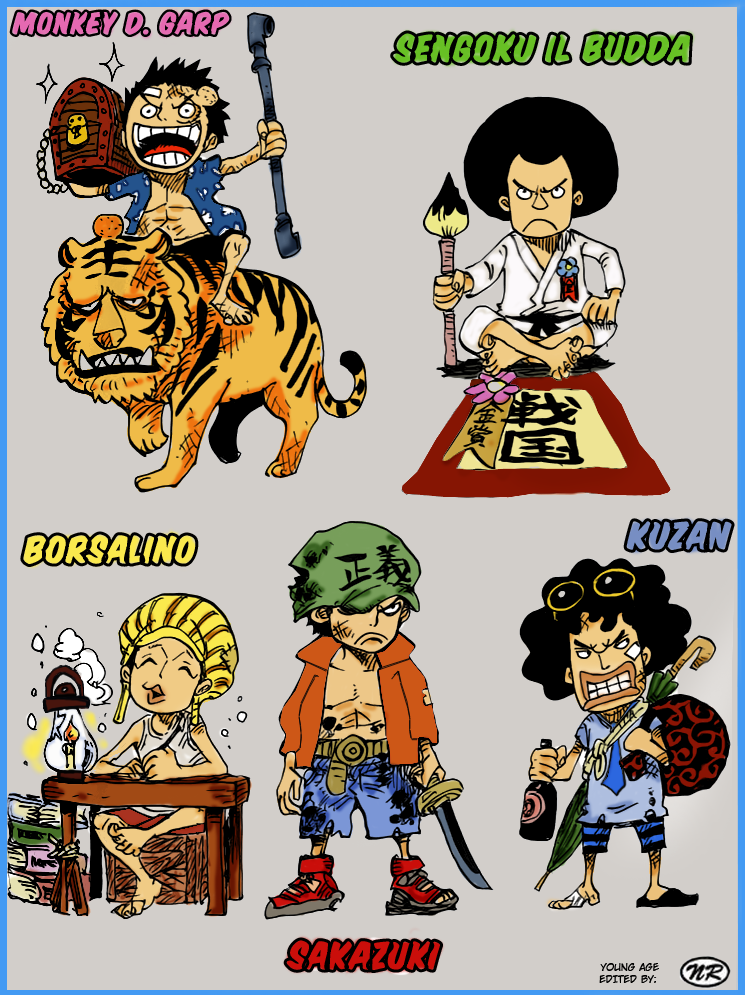 One Piece - Baby Marines Colorize by NickTesta on DeviantArt
