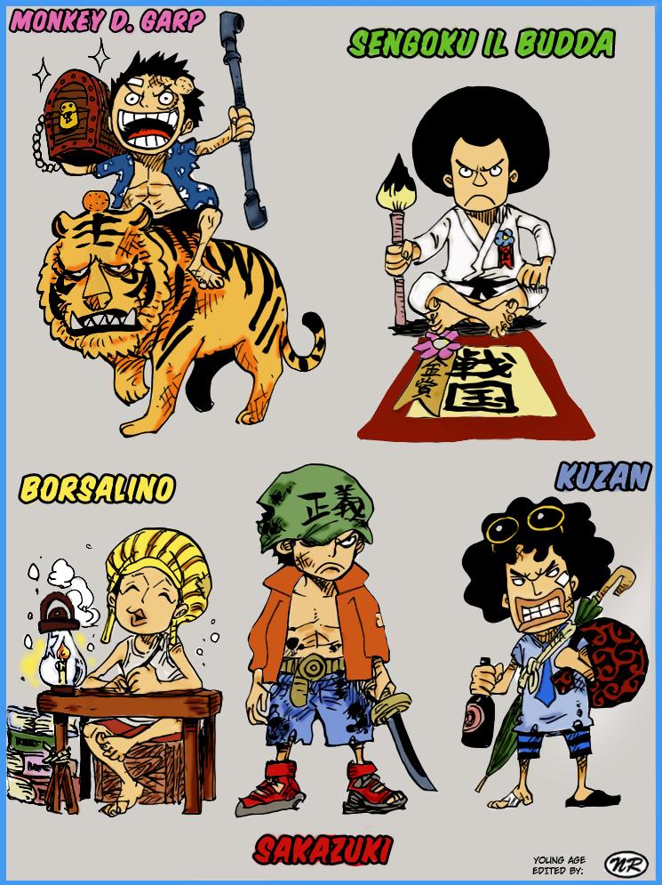 Ranks In Marine >> One Piece - Baby Marines Colorize by NickTesta on DeviantArt