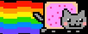 Nyan Cat 6120x2400 by norbi9696