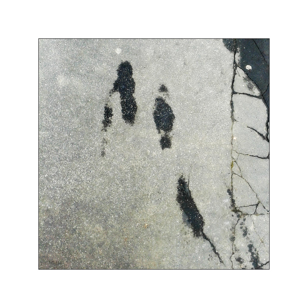 Walking Ladies With Black Cat by martaraff