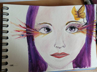 Purple Hair by wonies