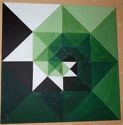 green geometrics by wonies