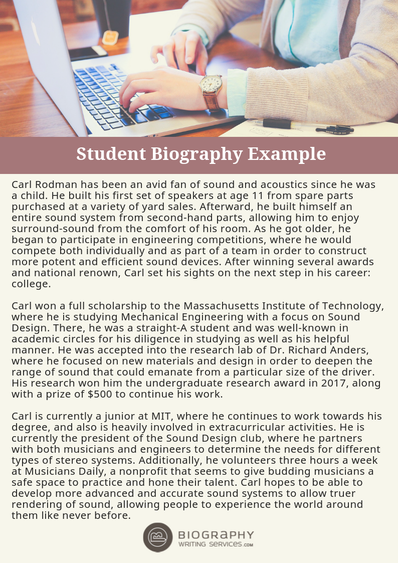 Student Biography Examples By Example Samples 018 On Deviantart