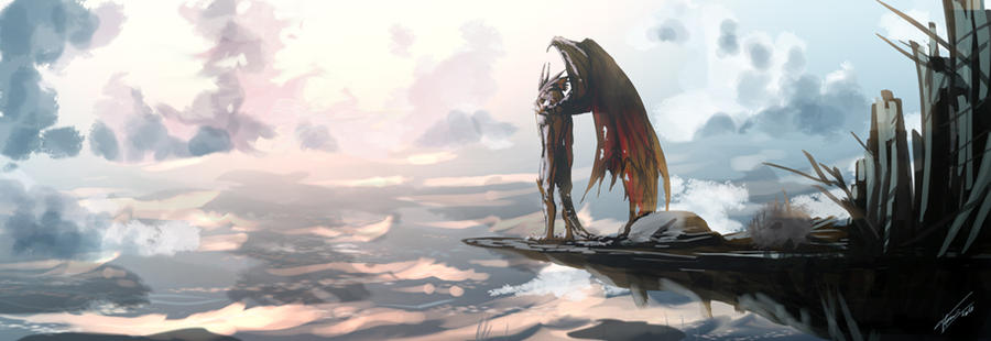 Color study-Pearl the dragon by tommasorenieri