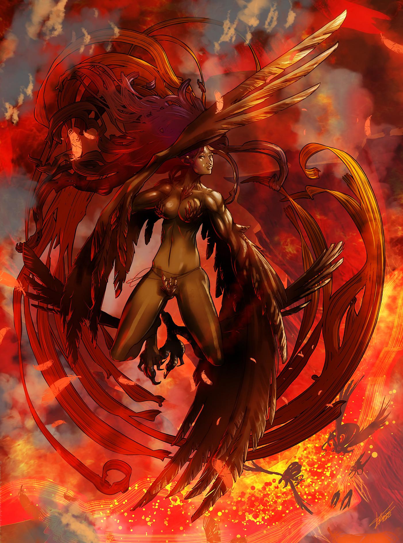 Harpy Phoenix by tommasorenieri
