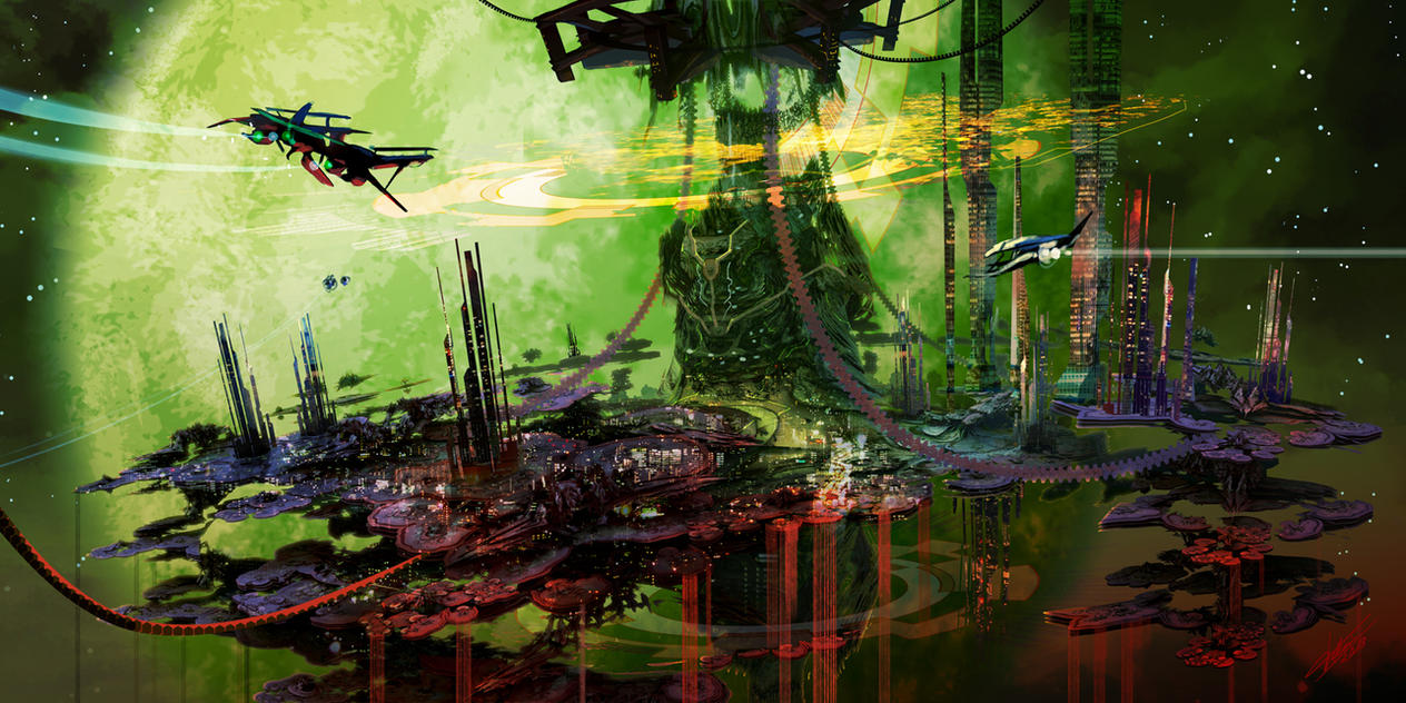 Alien Colony by tommasorenieri