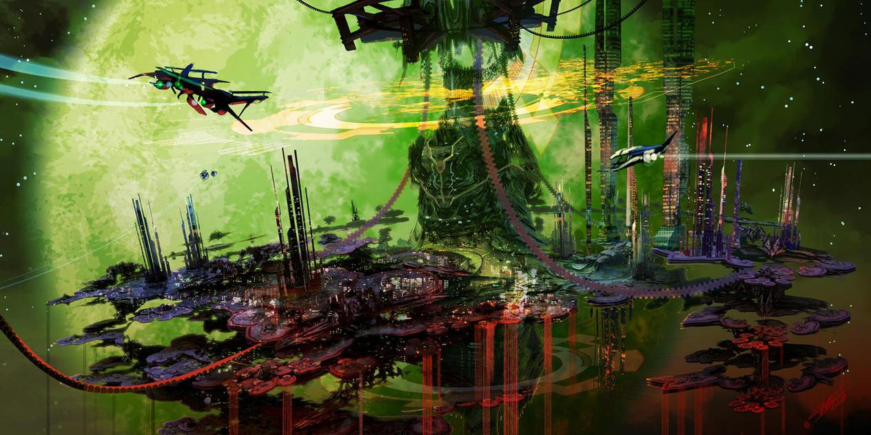 Alien Colony by tommasorenieri