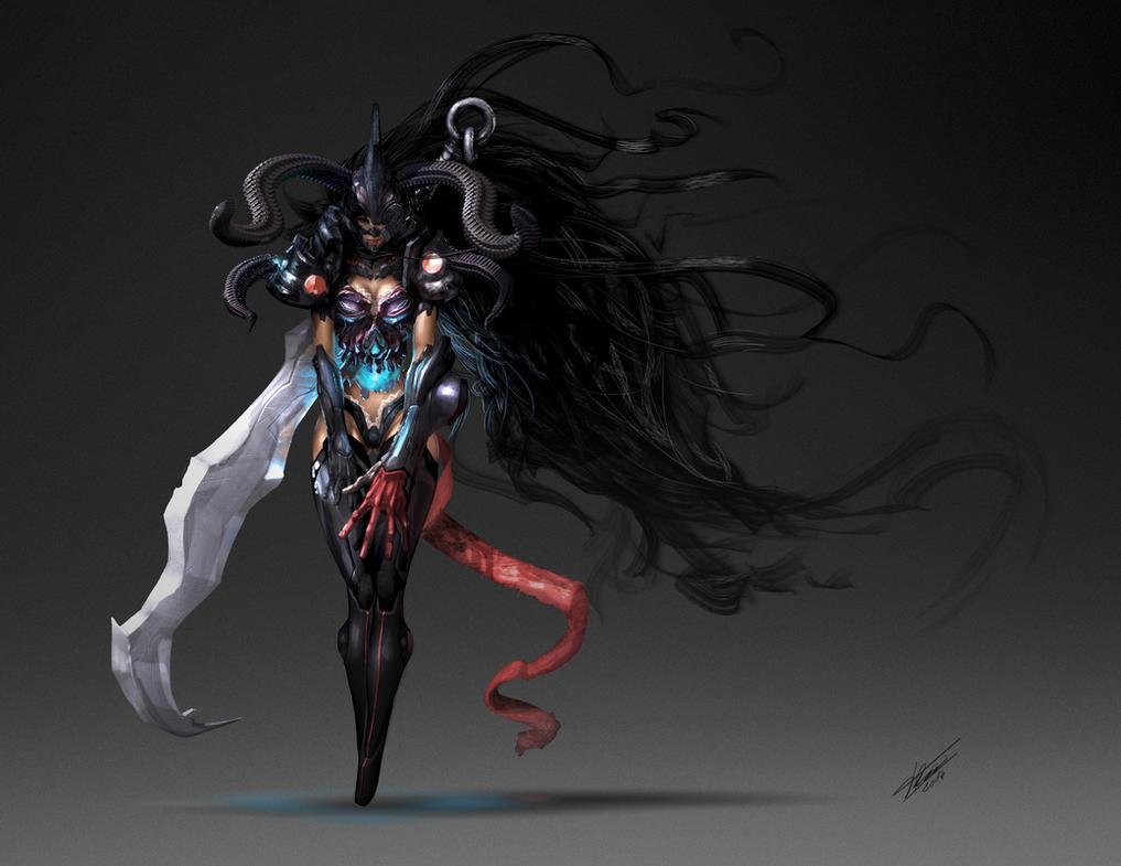 Ghost warrior Moon-A by tommasorenieri