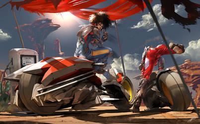 Ride the desert by tommasorenieri