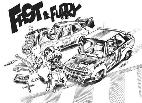 Fast e Furry 1 Fiat 131 and A112
