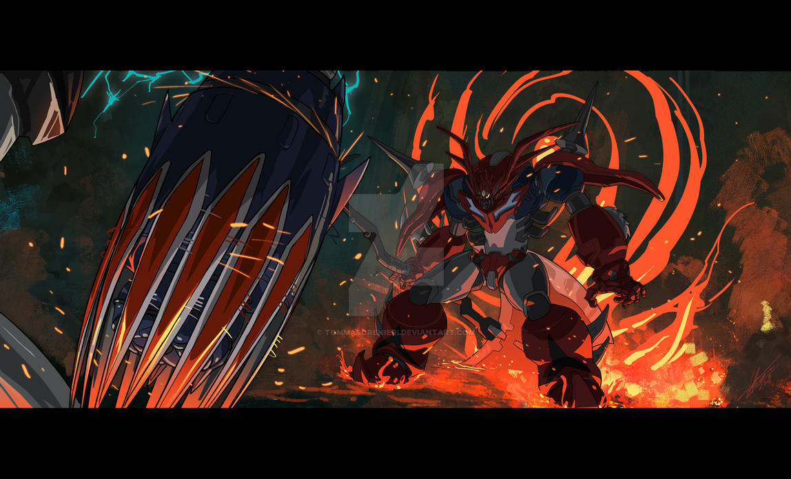 Getter Dragon R vs Grendizer by tommasorenieri