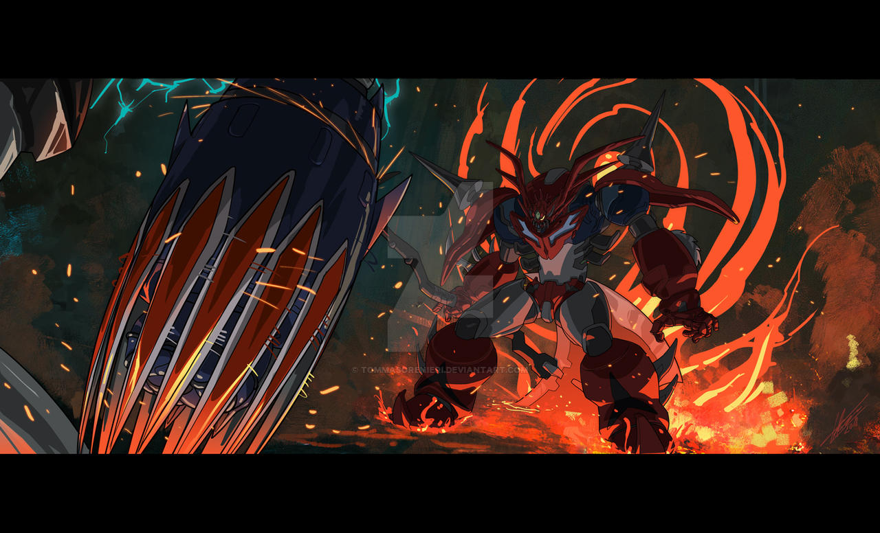 Getter Dragon R vs Grendizer by tommasorenieri