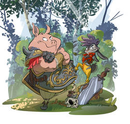 The Biscuit Sword -characters 1- Italo and Wiz