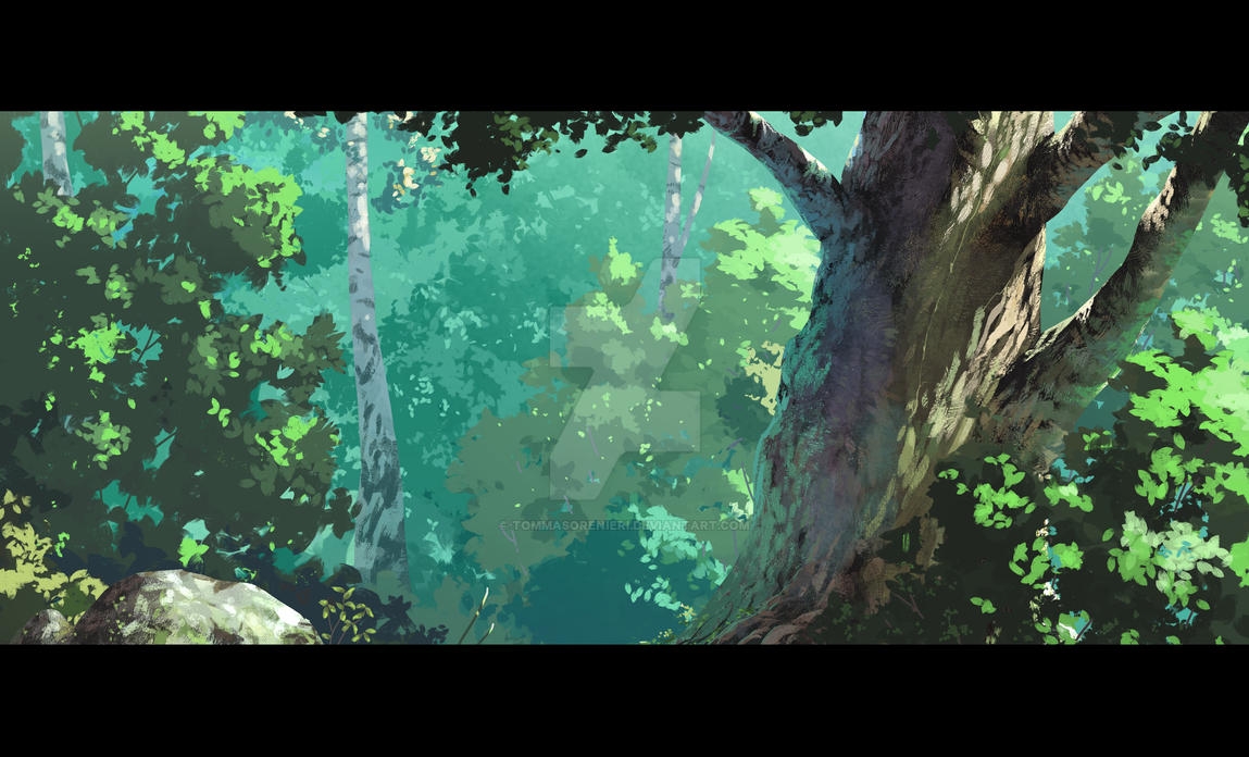 The Biscuit Sword - Frame 6 The Forest by tommasorenieri