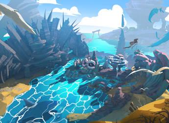 Pirate Island in VR Oculus Medium by tommasorenieri