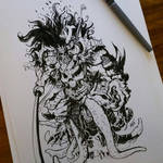 Zombie Samurai Commission