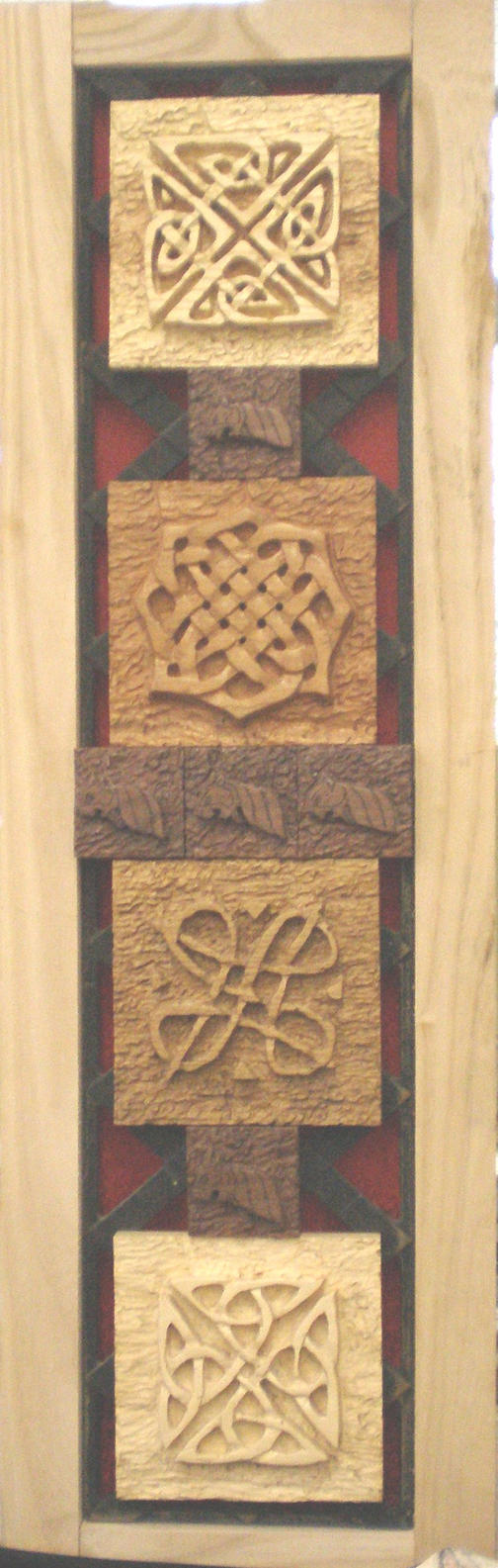Celtic Knot wood carvings - Laura Hepworth