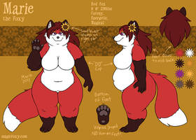 Marie the Foxy reference sheet by bigdragonlady