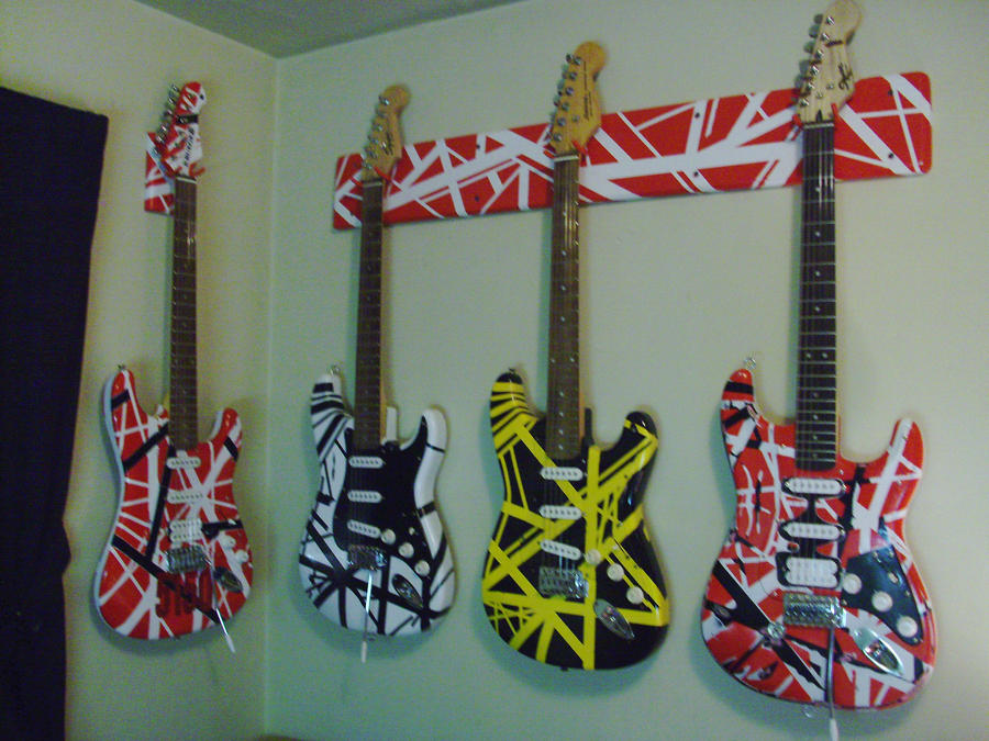 eddie van halen guitars! by lryvan