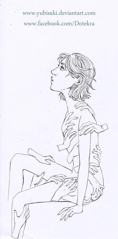 Hands Ink WIP by Yubisaki