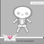 Skull Plush Template