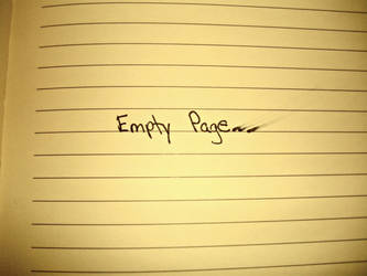 Empty Page by KristinaWithLove
