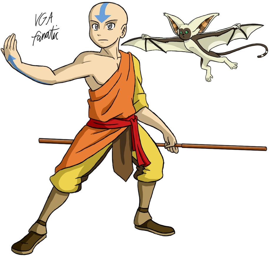 Avatar Aang: Avatar Aang And Momo By VGAfanatic On DeviantArt