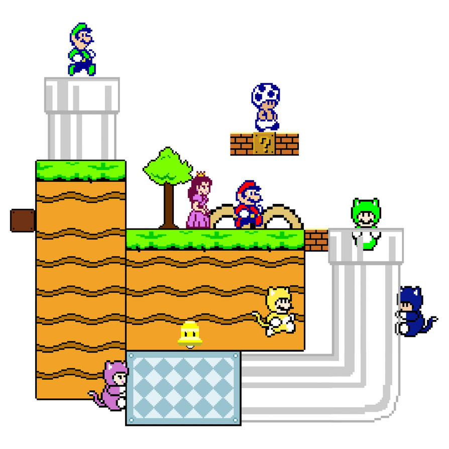 Super mario 8 bit world by vgafanatic on deviantart for Peach auto painting
