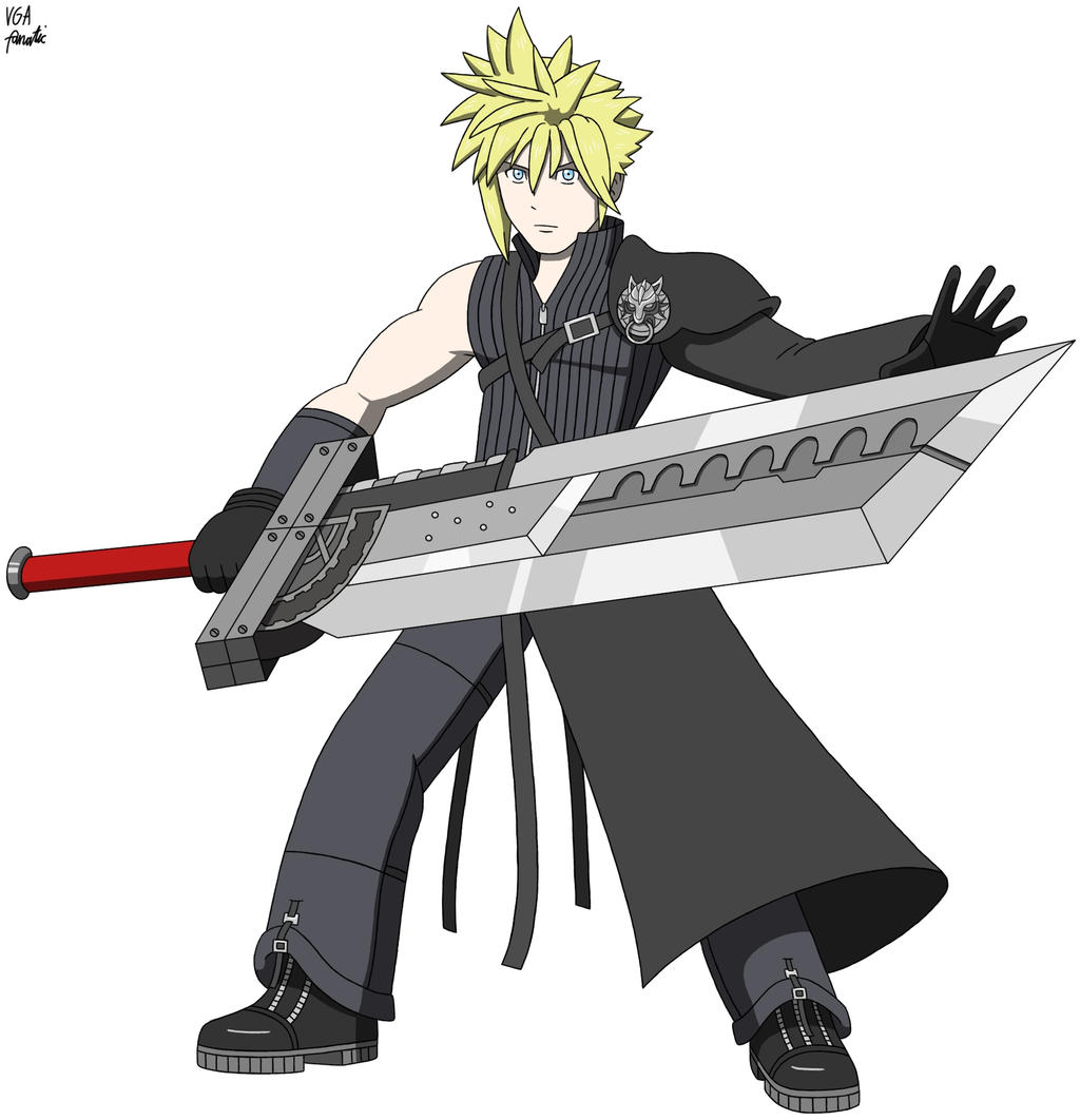 Fighter 61a Cloud Strife Advent Children By Vgafanatic On