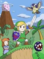 Twitter Print: Link's Awakening by VGAfanatic