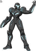 Fighter 4E: Dark Samus by VGAfanatic