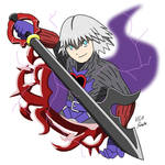 Twitter Print: Dark Riku by VGAfanatic