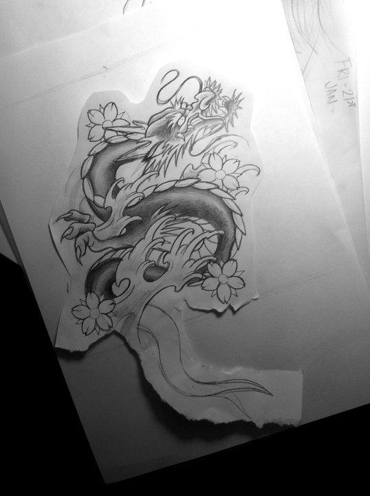 japanese dragon tattoo design by jessybell19 on deviantart. Black Bedroom Furniture Sets. Home Design Ideas