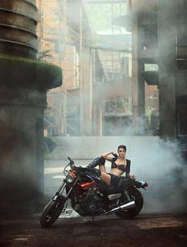 latex motor girl