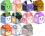 Milk Carton Icons - Batch 2