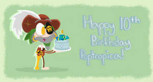 Happy 10th Birthday Poptropica! by ArtisticAsianBunny