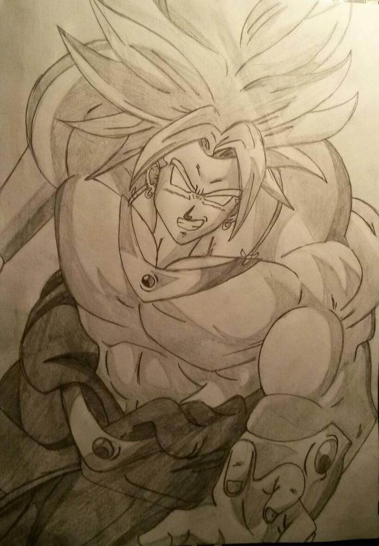 Broly Drawing By JimboJimSprites