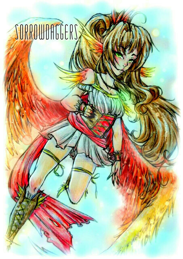 Phoenix Girl Digital Edit By Sorrowdaggers On Deviantart