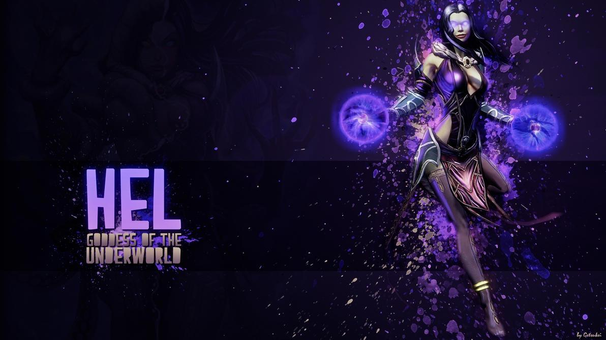 Hel, Goddess of the Underworld - Wallpaper HD by Getsukeii