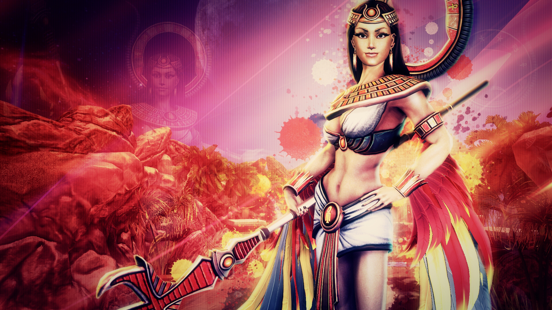 Isis, Goddess of Magic - SMITE - Wallpaper HD by Getsukeii