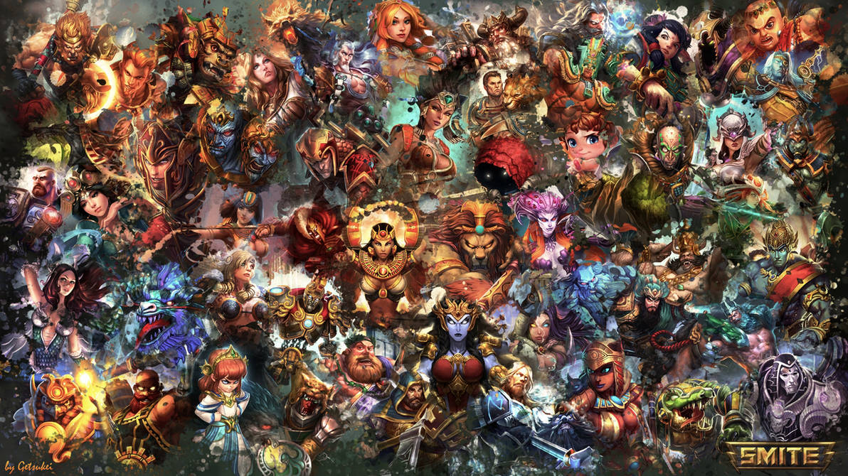 SMITE - All Gods Wallpaper (Serqet Edition) by Getsukeii ...