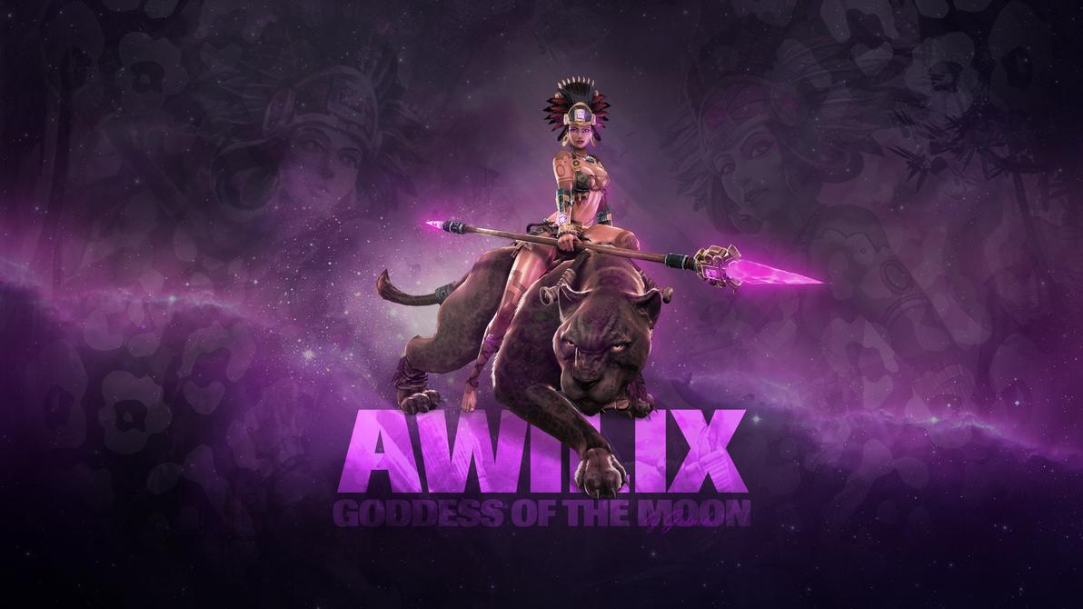 smite - awilix, goddess of the moon (wallpaper)getsukeii on