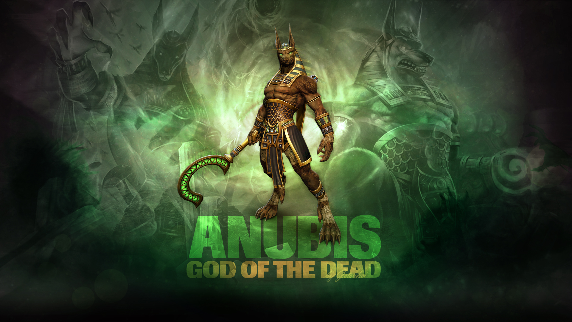 smite anubis god of the dead wallpaper by getsukeii